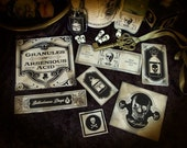 Highly Poisonous Apothecary Stickers Part 2 of 3