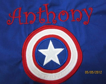 Captain America Cape   Personalized, Reversible, Washable