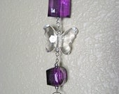 Crystal Delight Butterfly Sundrop Suncatcher- PURPLE