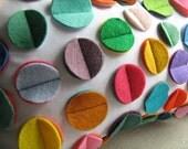 Multi- Color Rainbow Felt Disc Pillow