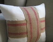 16x16 inch CUSTOM Rustic Pillow in TAN LINEN