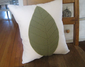 Giant Leaf Pillow