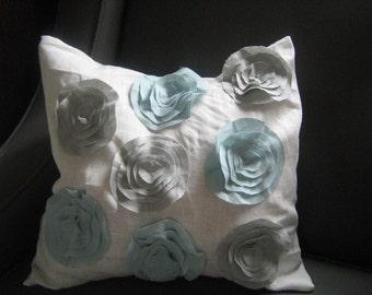 Morning Dew Garden Rose Pillow- As Seen  In FAMILY CIRCLE Magazine