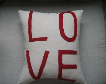 All You Need is LOVE Pillow 11x14-in Red