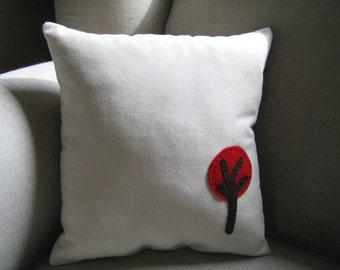 Tiny Red Tree Pillow