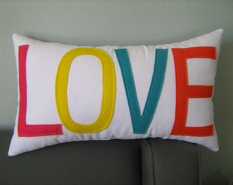 The Color of LOVE Pillow- As Seen on the cover of RUE magazine