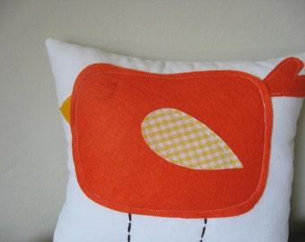 Chubby Orange Birdie Mini Pillows