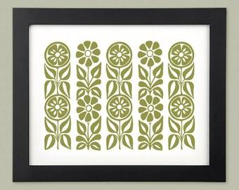 Mom's Garden - Print - Mustard