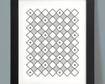 Pattern Perfect - 8x10 Print - Gray