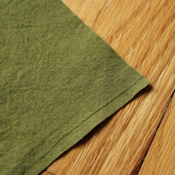 Hemp Fabric Organic Cotton Hand Dyed PEA HALF YARD