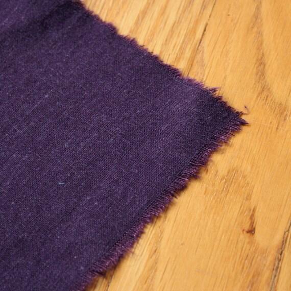 Organic cotton Hemp Fabric EGGPLANT Eco friendly sale HALF YARD