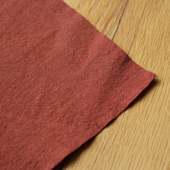 Hemp Fabric Organic Cotton RUST hand dyed
