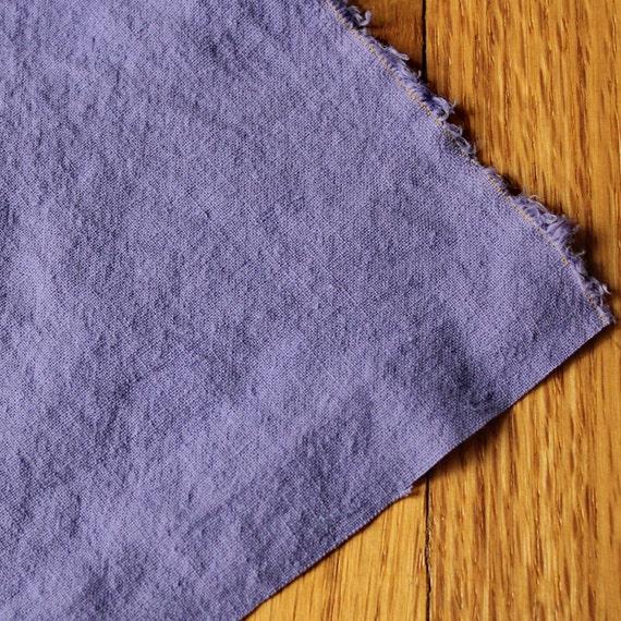 Hemp Organic Cotton Fabric Hand Dyed Fabric LILAC HALF YARD