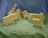 Wooden african animals set (6pc)