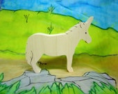 Unicorn  wooden toy all natural