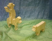 Rodeo set cowboy, horse, and cow (3 pc)