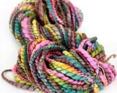 Antique Rainbow 78 yards handspun plyed novelty art yarn