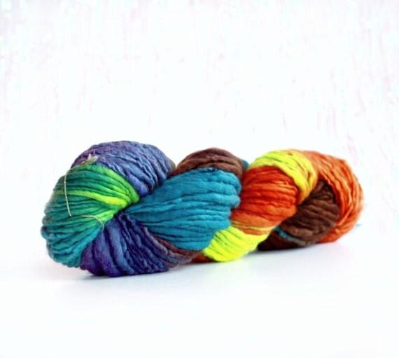 Velvet Dress 102 yards Wool Yarn-Hand Dyed-Merino Yarn- Handspun single