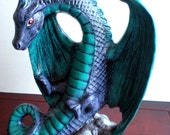 Hand Painted Ceramic Standing Dragon