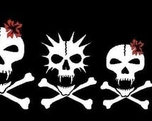 Vampire Skull Family Car Decal Sticker Custom Made Personalized