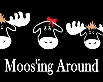 Moose Family Car Decal Sticker Custom Made