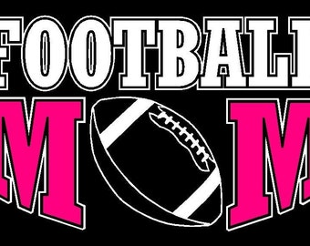 Football Mom Car Decal Sticker Custom Made