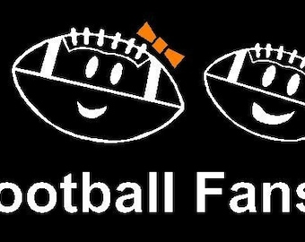 Football Family Car Decal Sticker Custom Made