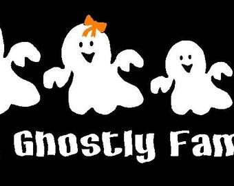 Ghost Halloween Family Decal Sticker Custom Made
