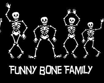 Skeleton Family Car decal Sticker Custom Made Personalized