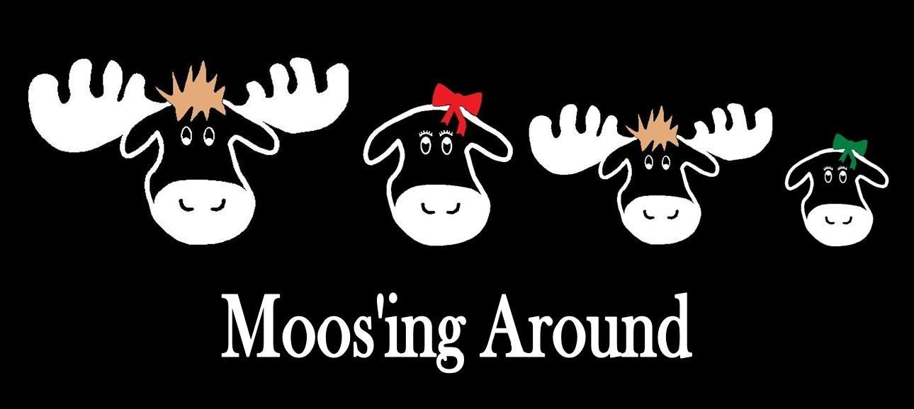 Moose Family Car Decal Sticker Custom Made - Car window decals custom made