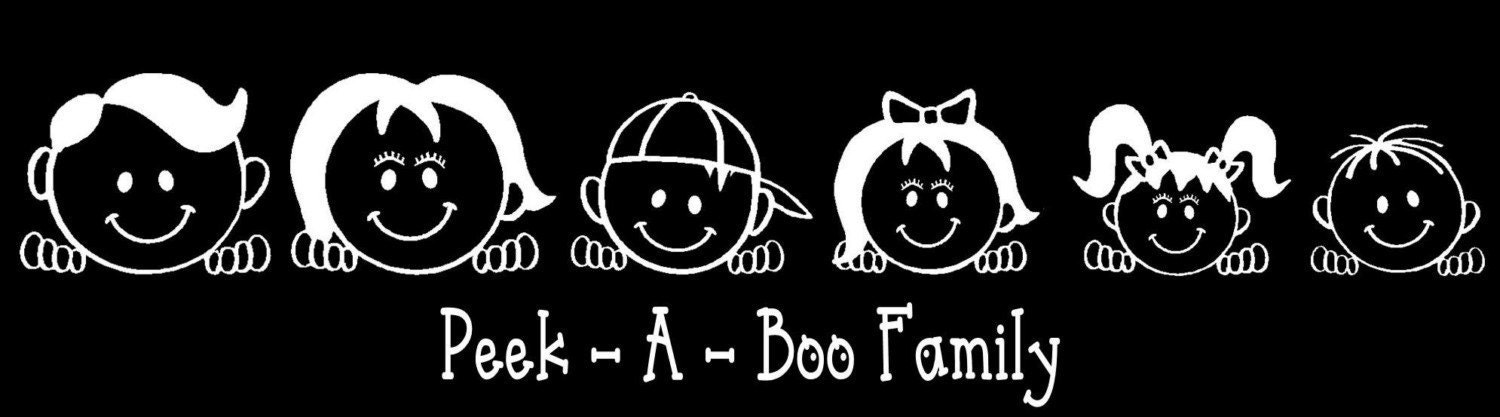 Peek A Boo Family Car Decal Sticker Custom Made Personalized - Car decal stickers custom