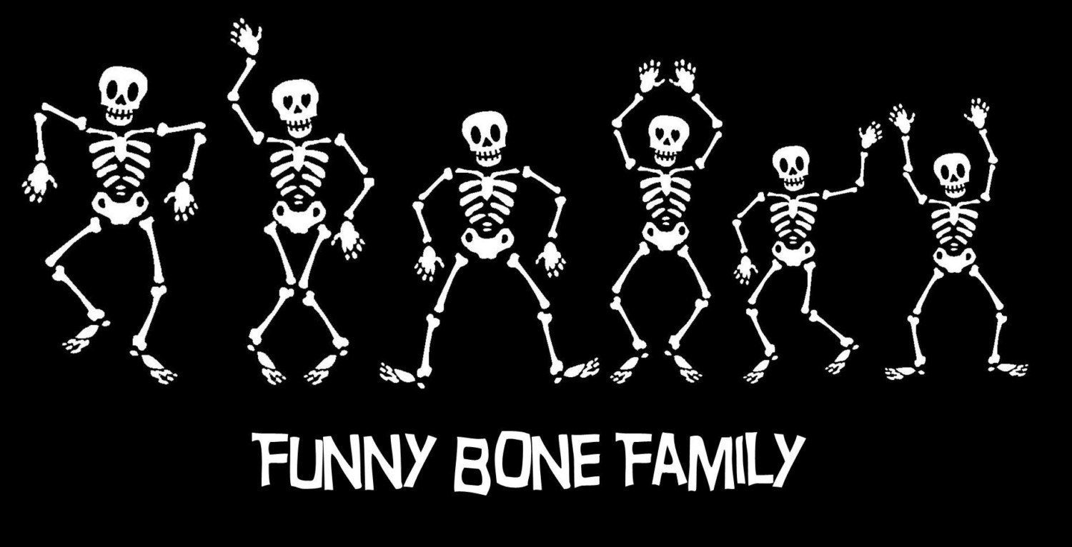 Skeleton Family Car Decal Sticker Custom Made Personalized - Car window decals custom made
