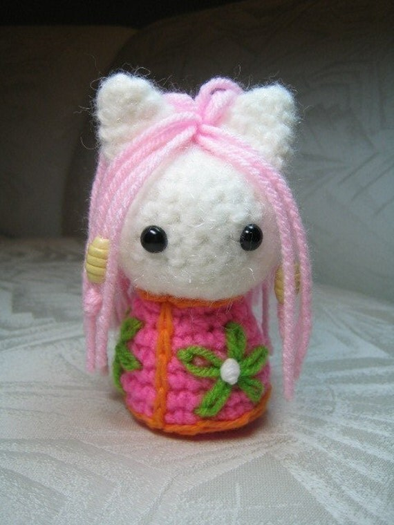 Amigurumi Cat Pattern Japanese : Items similar to Kokeshi Cats Amigurumi Crochet Pattern on ...