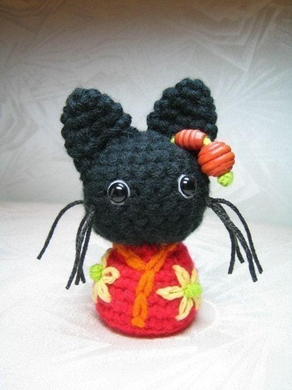 Presepe Amigurumi Etsy : Kokeshi Cats Amigurumi Crochet Pattern