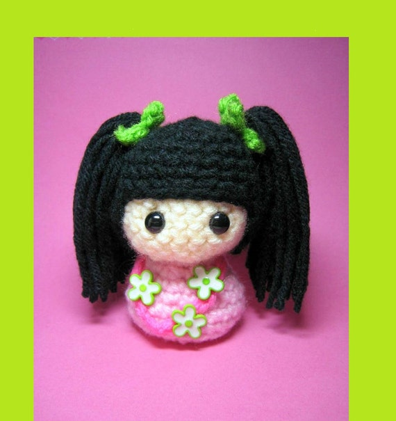 Hattie Kokeshi Doll Amigurumi Crochet Pattern PDF file by ...