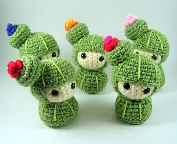 Cactus Kokeshi Amigurumi Crochet Pattern PDF file