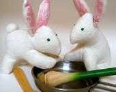 organic natural baby rabbit stuffed animals softies toys / Rufus or Rhonda
