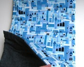 toddler eco nap mat in blue fairytale castles