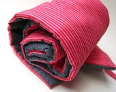 NAP MAT organic for daycare preschool in eco friendly hot pink stripes - modern kids essential