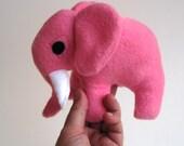 Baby elephant stuffed animal / Petunia the bright fuschia pink plush pachyderm toy