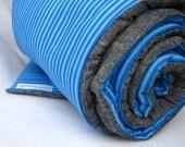 Organic Toddler Nap Mat / Modern Blue Stripes for Eco Friendly Kids Preschool Daycare Pad