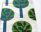 eco friendly toddler nap mat for modern kids in green trees / for daycare preschool kindergarten