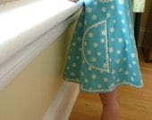 The June Dress - girls organic dress in aquamarine blue - eco friendly modern toddler clothing, indie fashion (Made to measure - LAST ONE)