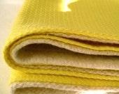 organic baby burp cloths set of 2 two in eco friendly lemon citrus yellow  (LAST 2)