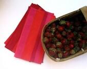 kitchen napkins set of 4 / Marimekko hot pink raspberry stripes eco friendly reusable table food decor (ONLY 1) ready to ship