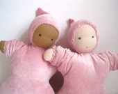 "Waldorf doll organic baby in pink 12""  / eco friendly toy for kids children to cuddle (READY TO SHIP)"