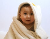 ORGANIC Baby Bath Towel with Hood / Personalized Double-Thick Eco Friendly Initial Beach Towel - Custom Modern Kids Gift