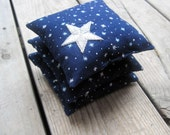 As Seen in Cool Mom Picks - Set of 3 Night Sky Balsam Sachets in Navy Linen- Winter Home Decor, Aromatherapy, Hostess Favours, Spa Bathroom