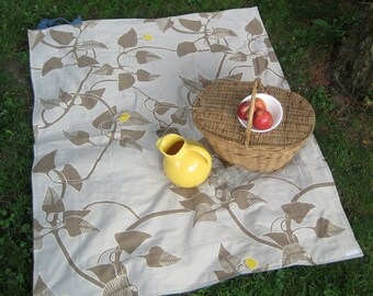 Picnic Blanket- Silver MARIMEKKO Picnic Blanket- Eco Friendly, Picnics, Gray, Summer- Wedding Gift