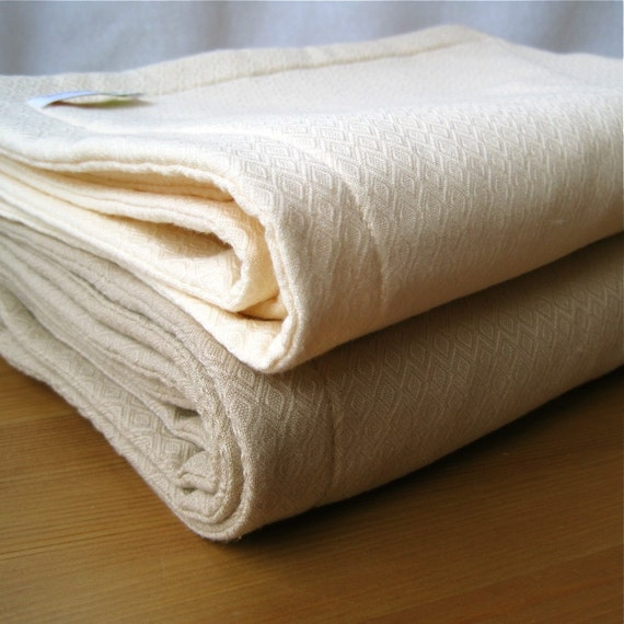Baby Bamboo Blanket Pattern: Bamboo Baby Organic Blanket / Quilted Bedding In Creamy White